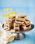 Banana and peanut ice cream sandwiches