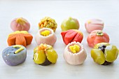 Assorted wagashi (sweets, Japan)
