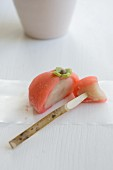 Wagashi persimmon (Japanese sweet)