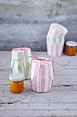Creative gift wrapping made from muffin cases