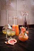 Various exotic sorbet shakes