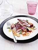 Beetroot salad with fennel and radishes