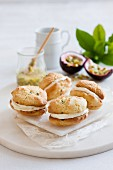 Passion fruit whoopie pies