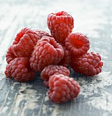 Fresh Raspberries; Close Up
