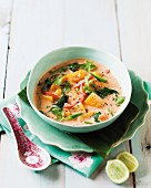 Red vegetable curry with coconut
