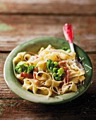 Bacon and broccoli carbonara