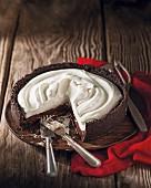 Creamy chocolate cake with chilli