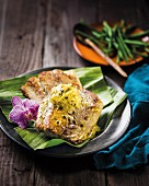 Fish fillets with vanilla, limes and granadilla butter (Madagascar)
