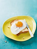 A fried egg on toast