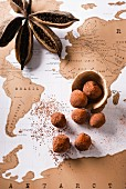 Chocolate and paprika truffles
