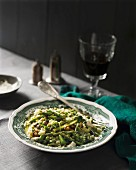 Risotto with goat's cheese and asparagus