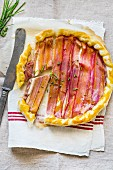 Rhubarb and Camembert sfogliata