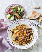 Hummus with lamb
