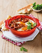 Baked beans with egg
