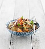 Glass noodle salad with vegetables