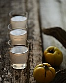 Glasses of quince juice