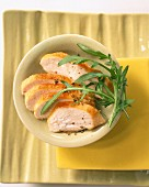 Chicken breast with rocket and lemon