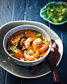 Tom Yam Goong (spicy prawn soup, Thailand)