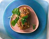 Meatballs with mint and feta cheese