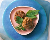 Meatballs with lovage and parsley