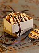 Sesame seed biscuits in a gift box