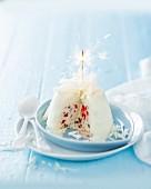 A cassata ice cream bomb