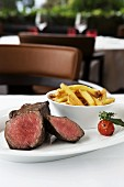 Entrecote with home-made chips at Park Weggis, Lake Lucerne, Switzerland