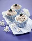 Blueberry swirl cupcakes