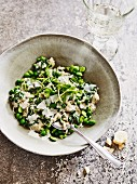 Spring risotto with peas