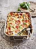 Chard lasagne with ricotta