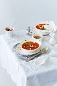 Christmas tomato soup with dates and cinnamon