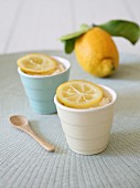 Cups of lemon cream