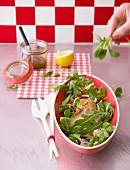 Oyster mushroom salad