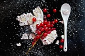 Almond nougat and redcurrants