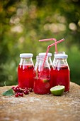 Redcurrant lemonade with lines