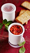 Pepper chutney and toast
