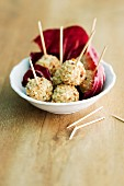 Pear and Roquefort balls