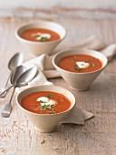 Tomato soup with crème fraîche