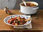 Juicy beef goulash