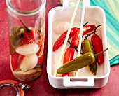 Pickled chilli peppers, Mexico