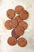 Oat biscuits with chocolate