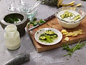 Yoghurt with pineapple pesto