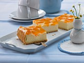 Orange Cheesecake with Chocolate Graham Cracker Crust
