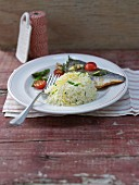 Lemon rice with fish