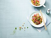 Thai salad with roast beef (low carb)