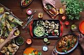 A Latin American buffet