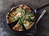 Vegetarian potato and asparagus tortilla