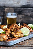 Chicken wings with chilli and lime