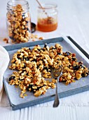 Oats with honey and dried fruits