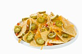 Nachos with cheese and jalapeños